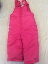 Carters 18 Months Snowpants Pink Girls Toddler Bibs Heart Embroidery