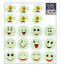Glow Stickers Carton Smiling Face Glow In The Dark Stickers Cute Smile Face