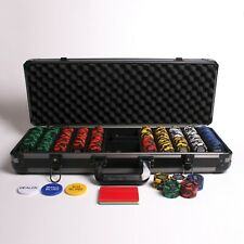 More details for 500 numbered redtooth poker chip set with 14 gram casino chips & button kit