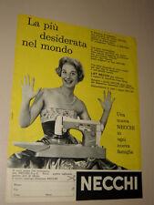 NECCHI MACCHINA DA CUCIRE=ANNI '50=PUBBLICITA=ADVERTISING=WERBUNG=570