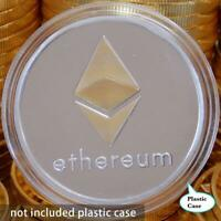 Ether Gold Plated Iron Commemorative Collectible Silver ETH Ethereum Miner Coin