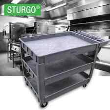STURGO Small 3 Tier Plastic Platform Trolley / Cart Brisbane