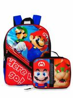 """Super Mario Large 16"""" School Backpack with Insulated Lunch Box - 2 Piece Set"""