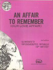 An Affair To Remember Sheet Music Lowrey #24 Organ 2nd Ed 1971 Warren Adamson