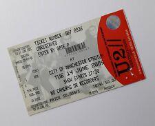 U2 TICKETS - Unused Ticket Stub City of Manchester Stadium 14/06/05