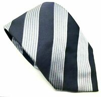 "Georgio Armani Blue Striped Men's Tie 100% Silk 4"" Width 60"" Length"