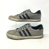 Adidas Neo SE Daily Vulc Sneakers Casual Skate Shoes Lace Up Canvas Grey Mens 11