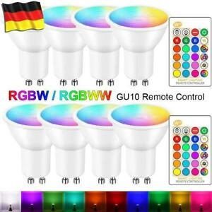 5W RGB GU10 LED Spot Birne Farbwechsel Lampe Licht Strahler mit Fernbedienung DR