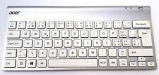 New & original Acer tablet silver bluetooth keyboard swiss schweizer Tastatur