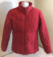Esprit Women's Red Down Feather Climate Control Puffer Jacket Small Free Ship!