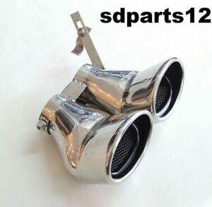 Double Pot d'échappement Embout Pour Mercedes-Benz AMG Classe C W203 C240 C320