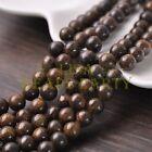 30pcs 8mm Round Natural Stone Loose Gemstone Beads Bronzite