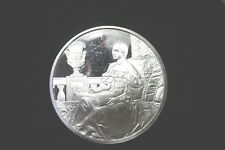 * THE MUSE:SUSAN WALKER MORSE BY SAMUEL MORSE ON ONE OUNCE STERLING SILVER COIN