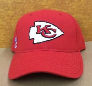 Vintage NOS Kansas City Chiefs NFL Reebok Adjustable Cap Hat New w/Tag Back name