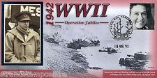 1942-2002 BENHAM SECONDA GUERRA MONDIALE 60th ANNIVERSARIO COVER-operazione Jubilee