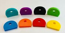 Coloured KEY TOP COVERS Head Caps Tags ID Markers MIXED TOPPERS 8 PACK FAST DELI