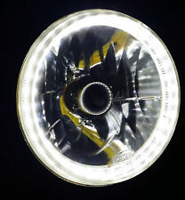 White 7 Round LED Halo Ring H4 Headlights Angel Eye DRL for Nissan Patrol GQ Y60