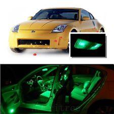 For Nissan 350Z 2003-2009 Green LED Interior Kit + Green License Light LED