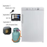 Smeta 3 Way 110V/12V/Propane Fridge RV Cabin 3.5 cu ft Gas Refrigerator Freezer