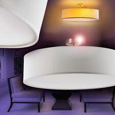 Plafoniera in Stoffa Design Lampada Soggiorno Luce Corridoio Bianca Nuova 140275
