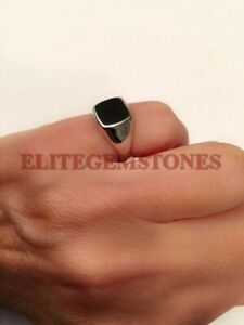 Natural Black Onyx Gemstone with 925 Sterling Silver Ring for Men's EG1315