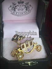 BRAND NEW! JUICY COUTURE PRINCESS PINK CARRIAGE BRACELET CHARM IN TAGGED BOX