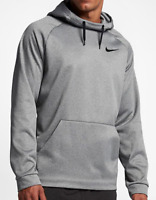 NEW NIKE Therma Training Pullover Hoodie 826671 Dri Fit Men Blue, Grey
