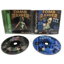 Tomb Raider 1 & 3 (Sony PlayStation 1, 1996/1998) Complete Ships Fast | CiB Vtg