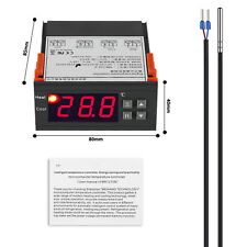 AC 220V Digital LCD Thermostatfühler Temperaturregler mit Sensor -40℃~120°C LED