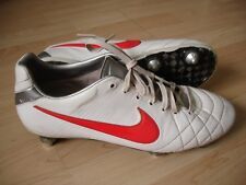NIKE TIEMPO LEGEND ELITE IV SG WHITE/RED FOOTBALL BOOTS US9 UK8 EUR42.5 CM27