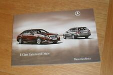 Mercedes E Class Brochure 2009-2010 - E200 E220 E250 E350 CDI Sport E500 E63 AMG