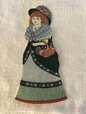 "Victorian Courtship Doll - 1 - Iron-On Fabric Appliques.. 6 1/2"" Tall.  (G)"