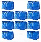 IKEA 10 Large Shopping Bags Laundry Tote Grocery Storage Reusable Strong FRAKTA