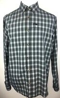 Columbia Omni Shield Mens L Button Up Shirt Long Sleeve Plaid Water Repellent