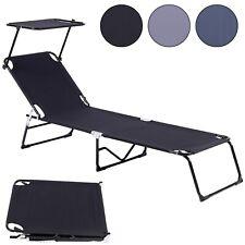 Gartenliege Sonnenliege Liege Strandliege klappbar mit Sonnendach Strand Stuhl