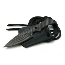 "4.5"" Overall Length Carbon Fiber Fixed Neck Knife With Kydex Sheath Cool Hand"