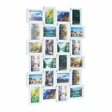 Relaxdays marco de fotos Múltiple para 24 Fotografías blanco 86x59x2.5 cm