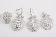 Turkish Handmade Ottoman 925 Sterling Silver  Topaz Sets Ring Size 8