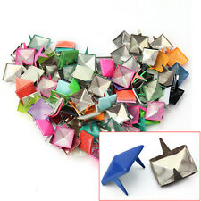 100 Pcs DIY Punk Pyramid Studs Nailheads For Clothes Shoes Bags Decoration Hot