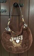 Juicy Couture womens CREST Velour ROYAL Satchel Bag Brown medium
