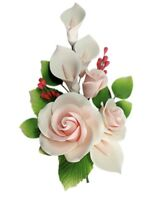 Edible 3 Roses Calla Lily Sprays, Cake Toppers Christening B-day 6colors LARGE#7
