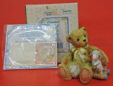 1992 Cherished Teddies Chelsea Bear With Lamb And Heart Figurine 910694