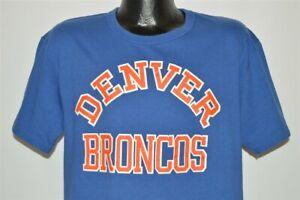 vintage 90s DENVER BRONCOS STARTER NFL FOOTBALL TEAM BLUE LOGO t-shirt LARGE L