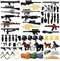 Military Swat Guns Weapon Pack Building Blocks City Team Police Soldiers Figure