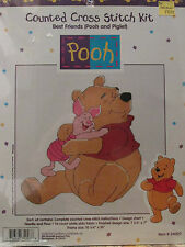DISNEY POOH & PIGLET #34007 COUNTED CROSS STITCH KIT BEST FRIENDS FACTORY SEALED