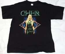 Used 2003 Cher Farewell Tour T-Shirt Black Adult Xl 2-Sided Good Condition