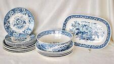 20 Teile Balmoral Royal Spinx Maastrich Holland Keramik Essgeschirr in blau