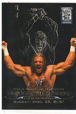 """2002 Fleer WWF Backlash """"Triple H"""" PPV Poster Insert Card (Mint) {4044}"""