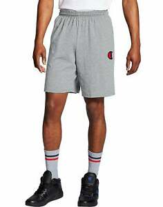 Champion Jersey Shorts Men Athletics Classic C Logo Side Pockets Drawcord Cotton