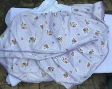Exc Mario Buatta by Revman Vintage Purple Floral Bedskirt QUEEN